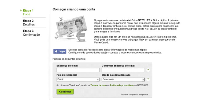 Cartao virtual neteller